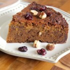 Cranberry-Hazelnut Coffee Cake - A moist coffee cake with a fine, cake-like texture and swirls of cinnamon sugar. Excellent for brunches or a snack.