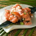 Lomi Lomi - Smoked salmon, tomato and onion make up this tantalizing Hawaiian salad. It's just not a luau without the lomi!