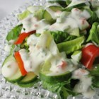 Spicy Ranch Dressing - This picante dressing is great on fries with cheese and bacon, with chicken fingers, burgers, or on a red leaf, cucumber and tomato salad.