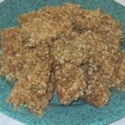 Sesame Snaps - A delicious, nutritious treat made with oats, sesame seeds and brown sugar! Great for lunch bags, or a trip to the gym!