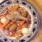 Duck Cassoulet - A real, old-fashioned cassoulet slow cooked in a 20th century kitchen appliance. The beans cook with the duck, sausage, and a variety of herbs and vegetables.