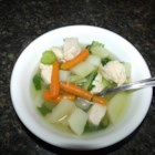 Chicken and Bok Choy Soup - Bok choy, chicken, and potatoes are simmered together for a quick and easy weeknight soup the family will love.