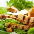 Veggie Chick'n Caesar Salad - It's a cinch to make a vegetarian Caesar salad for two - whisk up a simple garlic dressing, and top with quick-seared convenient Yves Chick'n Veggie Tenders.