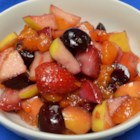 Fresh Fruit Salad with Honey Lime Dressing - Fresh fruit salad tossed in a homemade honey lime dressing is a refreshing side dish to serve with any meal.