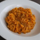 Quick and Easy Mashed Sweet Potatoes - This is a quick and easy side dish recipe for boiled sweet potatoes mashed with butter, garlic, basil, and thyme.