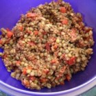 Crunch's Lentil Salad - Lentil and bulgur salad with plenty of veggies is a quick and easy main dish for lunch or dinner.