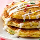 Cake Batter Pancakes - Bisquick(R) and SuperMoist(R) cake mix make these pancakes sweet, fun and a delicious birthday treat!