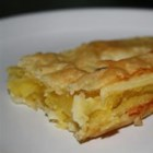 Macapuno Bars - This is a adaptation of an old Filipino recipe for 'boat tarts' using puff pastry and macapuno strings for an easy and tasty dessert.
