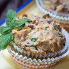 Spam(R), Cheese, and Spinach Muffins - Savory muffins filled with Spam(R), Cheddar cheese, and spinach are a hearty way to start the day.