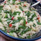 Green Bean Orzo Pasta - Fresh green beans, toasted pine nuts, and Parmesan cheese are tossed with orzo pasta in olive oil and basil for a refreshing and quick meal or side dish.