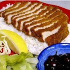 "Tonkatsu - Asian-Style Pork Chop - ""This is using Panko, which is Japanese bread crumbs (really light and airy, more so than crackers), and thinly sliced boneless pork chops."""