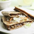 Barbecue Portobello Quesadillas - The smoky mushroom filling in this quesadilla is reminiscent of pulled pork, but with a fraction of the calories.