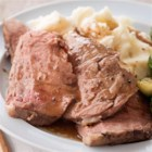 Herbed Prime Rib Roast with Red Wine Sauce - Marinating and cooking in an oven bag keeps this special occasion main dish moist and flavorful.