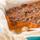 Holiday Sweet Potato Casserole - Update this classic cold-weather side dish with a sweet, crunchy maple-pecan topping.