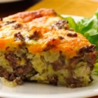 Gluten-Free Impossibly Easy Cheeseburger Pie - Craving a cheeseburger but eating gluten free? Try our tasty cheeseburger pie thanks to Bisquick(R) Gluten Free mix.