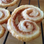 Cinnamon Palmiers - Frozen puff pastry makes it easy to whip up these crisp and cinnamony cookies.