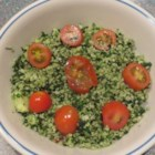 Kale Tabouleh Salad - Kale tabouleh salad made with whole wheat couscous is a new twist on the traditional Mediterranean-inspired grain salad.