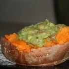Avocado Stuffed Yams - This is a simple and filling recipe. The cool and spicy avocado topping is a pleasant contrast to the hot sweet yams.