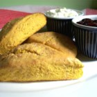 Queensland Pumpkin Scones - These Australian-born scones are reminiscent of Queensland, where the popular Queensland Blue pumpkin grows.  A very tasty treat!  Serve in the mornings with breakfast or afternoons with tea.
