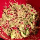 Avocado, Pomegranate, and Quinoa Salad - Avocado, pomegranate, and quinoa salad is a refreshing, gluten-free meal for lunch or a side dish at potlucks or picnics.
