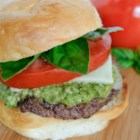 Caprese Burger - I am always looking for ways to jazz up the boring burger and came up with this after having a delicious caprese salad. Be sure to use fresh basil!