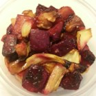 Roasted Beets, Apples, and Fennel - Earthy beets, sweet apples, and aromatic fennel bulbs tossed with a honey Dijon dressing and roasted until tender.  A distinctive and colorful side dish that highlights fall and winter produce.
