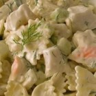 Fresh Dill Pasta Salad - A nice twist to your standard shrimp salad. I made this recipe when I had tons of dill in my garden and needed something to do with it. Enjoy!