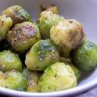 Roasted Brussels Sprouts - Brussels sprouts are simply seasoned with salt, pepper, and olive oil, then slow-roasted in a very hot oven until darkest brown. They are the perfect combination of sweet and salty, and make for perfect snack leftovers straight from the fridge the next day!