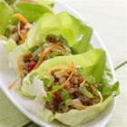 Five-Spice Turkey and Lettuce Wraps - Based on a popular Chinese dish, these fun wraps make a delicious light dinner.
