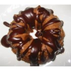 Mocha Cake V - This moist yellow cake is studded with chocolate chips and spiked with coffee liqueur.  It's topped off with a simple chocolate glaze.