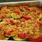 Tomato Zucchini Casserole - A simple vegetable dish that highlights the summer flavors of fresh tomatoes and zucchini. It goes great with grilled meats or poultry.