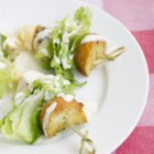 Chicken Caesar Salad on a Stick - Chicken Caesar salad on a stick is a quick and easy version of the classic Caesar salad and perfect for parties.