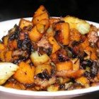 Sweet Potato and Fennel Hash - This sweet potato hash features onion, fennel, jalapeno pepper, whiskey, and brown sugar.