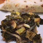 Sauteed Kale with Apples - Sauteed kale with apples and onion is a quick and easy side dish that adds a nice green color to any dinner plate.