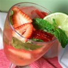 Strawberry-Mint Soda - While making a pitcher of my Strawberry Mojitos, I had a request for one without any alcohol.  It seemed to be a hit! You can adjust the taste by adding less or more of any ingredient.  Refreshing and light, it's perfect on a hot summer day!