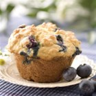 Blueberry Lemon Yogurt Muffins - Tender moist muffins filled with the goodness of oats, yogurt and blueberries with minimal fat.