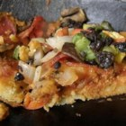 Gluten-Free Pizza Crust - Garbanzo bean flour is the base for this quick-and-easy gluten-free pizza crust; add your favorite toppings and cheese!
