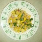 Pineapple and Mango Salsa - This DIY salsa recipe eschews tomatoes in favor of pineapple and mango, flavored with the usual suspects: jalapeno, onion, and lime juice.