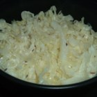 Danish Cabbage - A quick, simple cabbage recipe starring sour cream and caraway seeds.