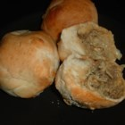 Kraut Bierocks - These meat-mixture filled rolls make a great main dish, and are also great as a snack.  They reheat well, so leftovers are also great!  Sauerkraut can be used in place of the cabbage for more of a 'kraut flavor'.