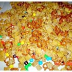 Sweet Party Mix - Crispy cereal, almonds, and pecans are coated with a sweet, buttery mixture that's sure to please!