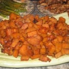 Sweet and Spicy Sweet Potatoes - The spicy mixture covering these sweet potatoes is also good on chicken pieces!