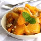 Sugar Free Peach and Banana Cobbler - White peaches and bananas lend their natural sweetness to a cobbler that doesn't contain white sugar.