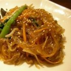 Yummy Korean Glass Noodles (Jap Chae) - After lots of trial and error, I have managed to recreate one of my favorite appetizer dishes served at a Korean restaurant. While this is not the traditional Jap Chae that includes meats and vegetables, this one is sweet and delightful. Great served as an appetizer or a side dish to chicken and meat! Enjoy.