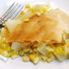 Pennsylvania Dutch Corn Pie - This is my mom's corn pie. We grew up eating this and loving it in the heart of Amish country. It is a very hearty dish, and easy to make.  Give this one a try before you decide you won't like it. Corn takes on a whole different flavor made this way. Some people add cooked chicken to the pie as well.