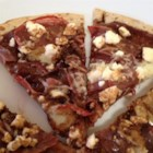 Fig and Prosciutto Pizza - Fig and prosciutto pizza with feta cheese and a drizzle of olive oil is a quick and easy recipe that makes a fancy any-time meal.