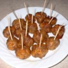 Sausage Stuffing Balls - Seasoned stuffing mix and pork sausage are blended and made into little baked appetizer balls.