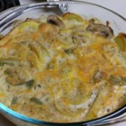 Summer Squash Casserole with Nuts - This is a recipe that my Southern mother-in-law gave to me, her Yankee daughter-in-law!  Zucchini or yellow summer squash may be used together, or interchangeably to create this delicious casserole! Use bread crumbs, crushed crackers or cheese for the topping.