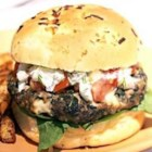 Feta-Stuffed Hamburgers - This is a great hamburger for the grill. Feta cheese gives it a rich and creamy taste.