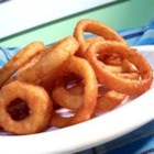 Beer Battered Onion Rings - Beer battered onion rings - my mother-in-law taught me this. You can actually use this batter for a lot of things, like zucchini, eggplant, jalapenos, etc.